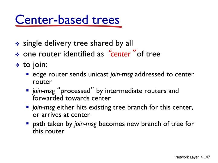 Center-based trees