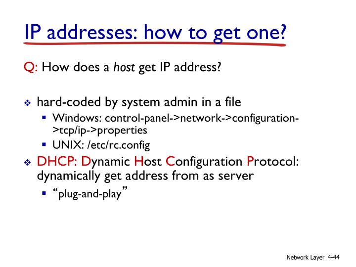IP addresses: how to get one?