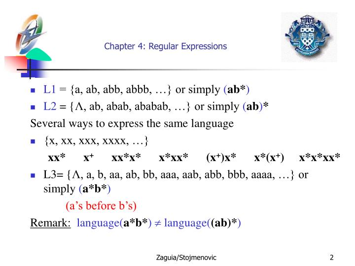 Chapter 4 regular expressions1