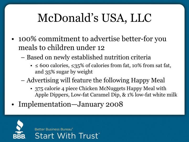 McDonald's USA, LLC