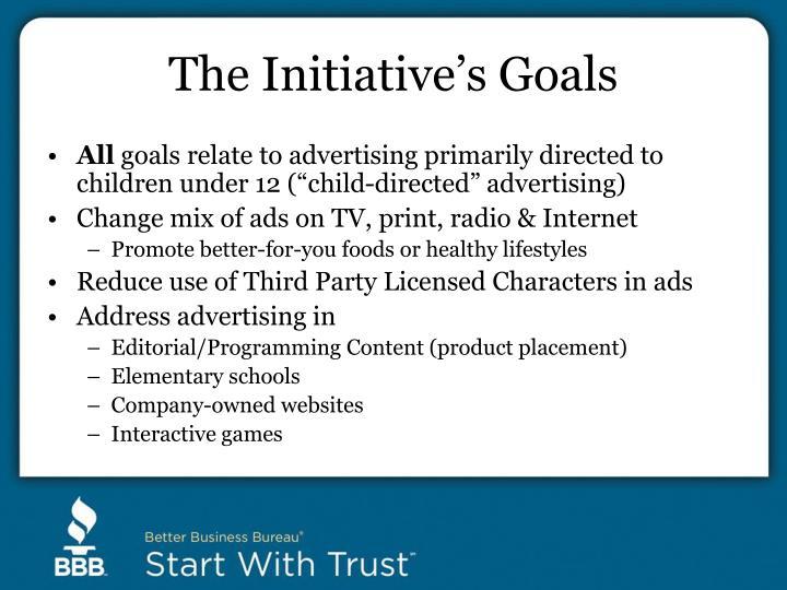 The Initiative's Goals