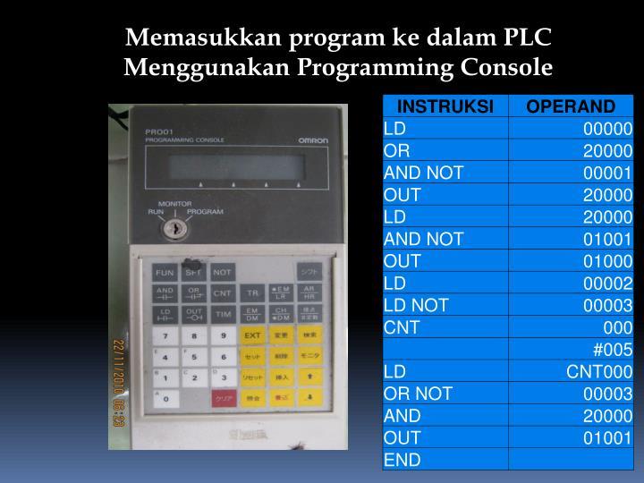 Memasukkan program ke dalam PLC