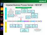 impacted business process sample new bp