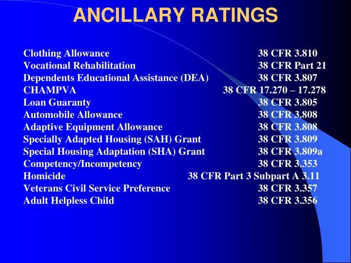 ANCILLARY RATINGS