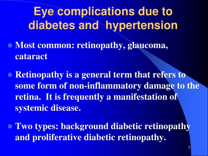 Eye complications due to