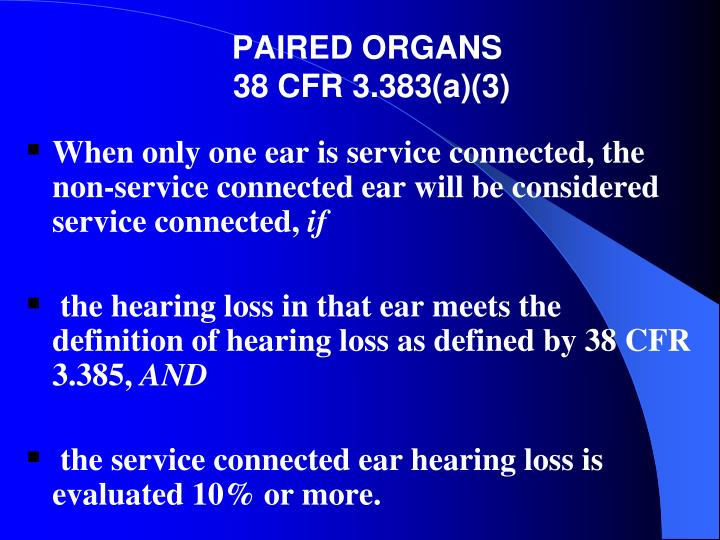 PAIRED ORGANS