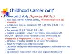 childhood cancer cont