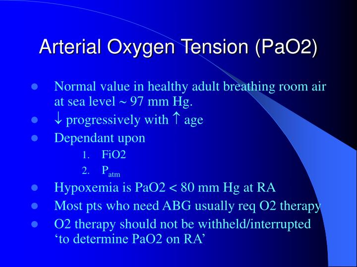 Arterial Oxygen Tension (PaO2)