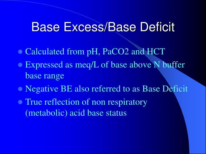 Base Excess/Base Deficit
