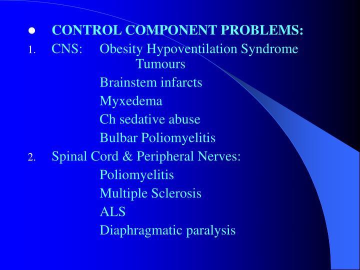 CONTROL COMPONENT PROBLEMS: