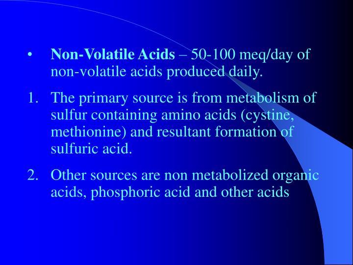 Non-Volatile Acids