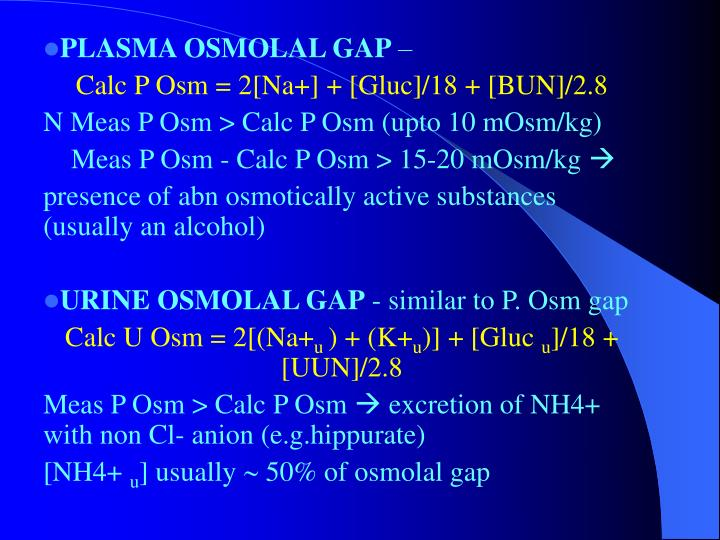 PLASMA OSMOLAL GAP