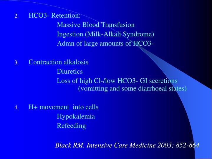 HCO3- Retention: