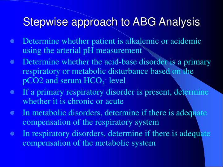 Stepwise approach to ABG Analysis