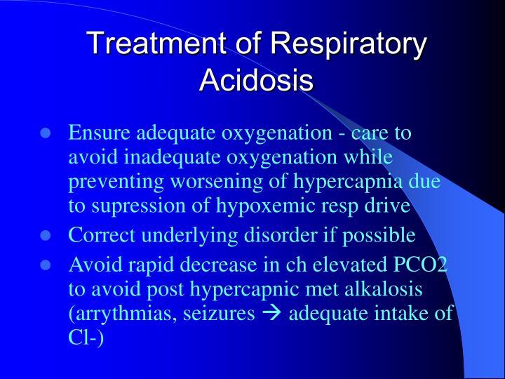 Treatment of Respiratory Acidosis