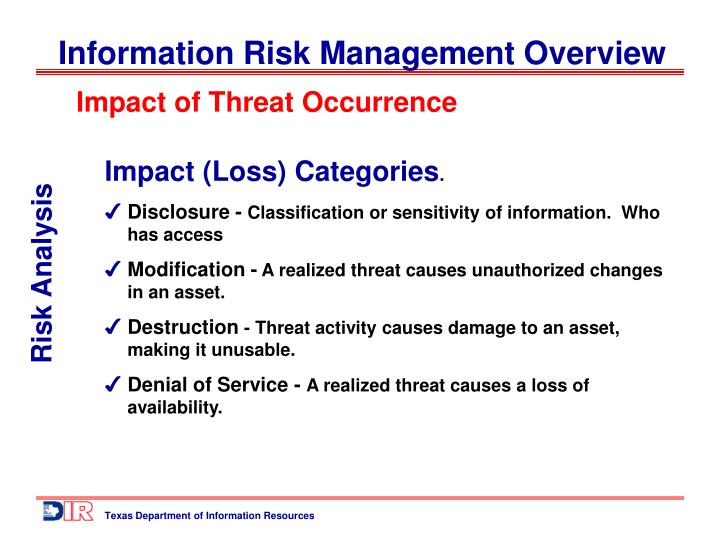 Impact of Threat Occurrence