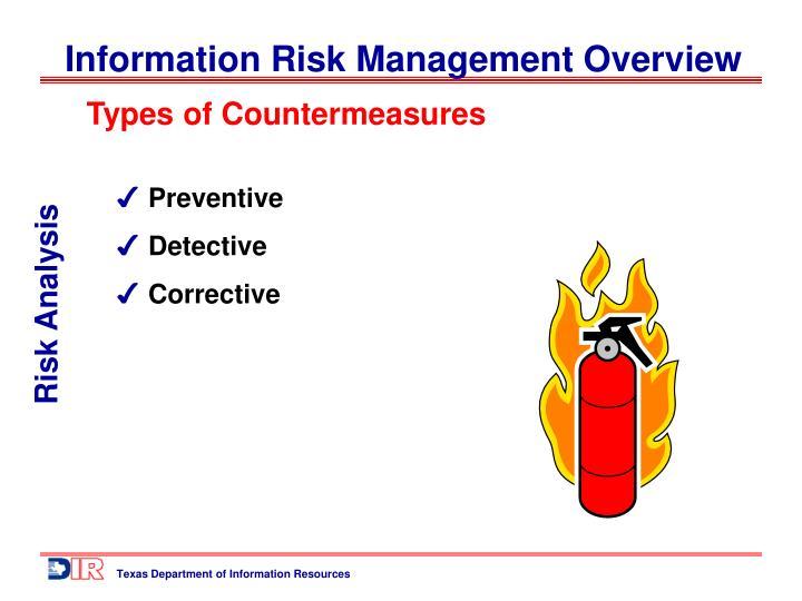Types of Countermeasures