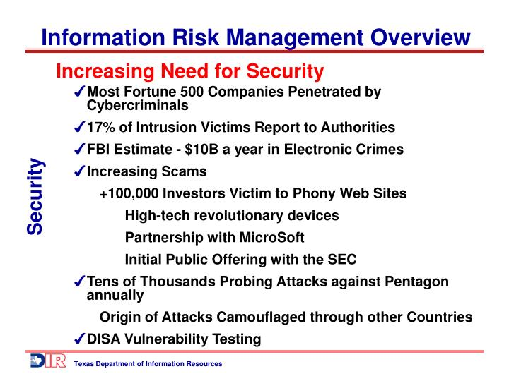 Increasing Need for Security