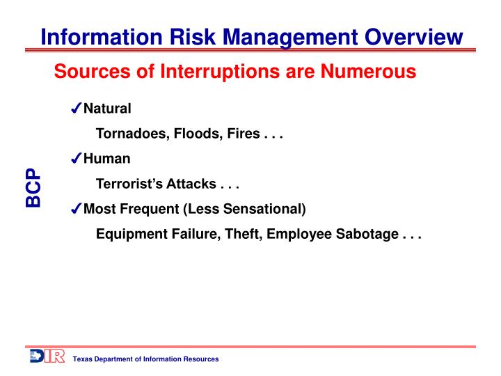 Sources of Interruptions are Numerous