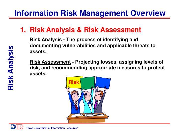 1.  Risk Analysis & Risk Assessment