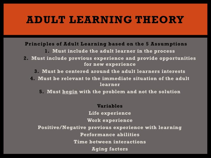 andragogy and transformative learning essay Implications of a critical theory for self-directed learning and adult education are explored a charter for andragogy is suggested arlin, patricia cognitive development in adulthood:  towards a transformative and reflexive learning sage video streaming video collections.