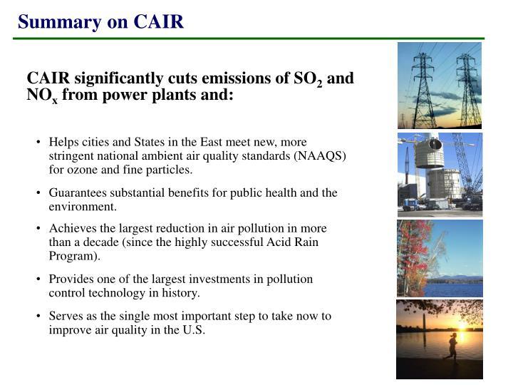 Summary on CAIR