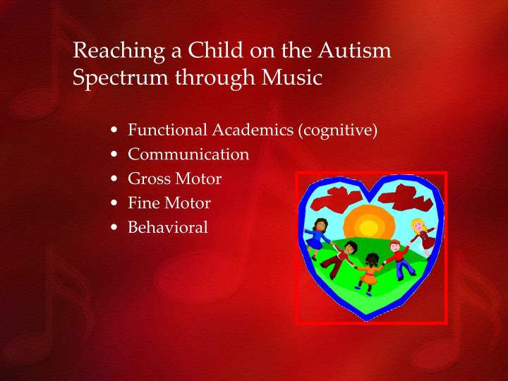healing autistic children through music Can god heal autism he kept me calm through the storms  and hence bring the healing that god wants on his children healing is in the atonement.