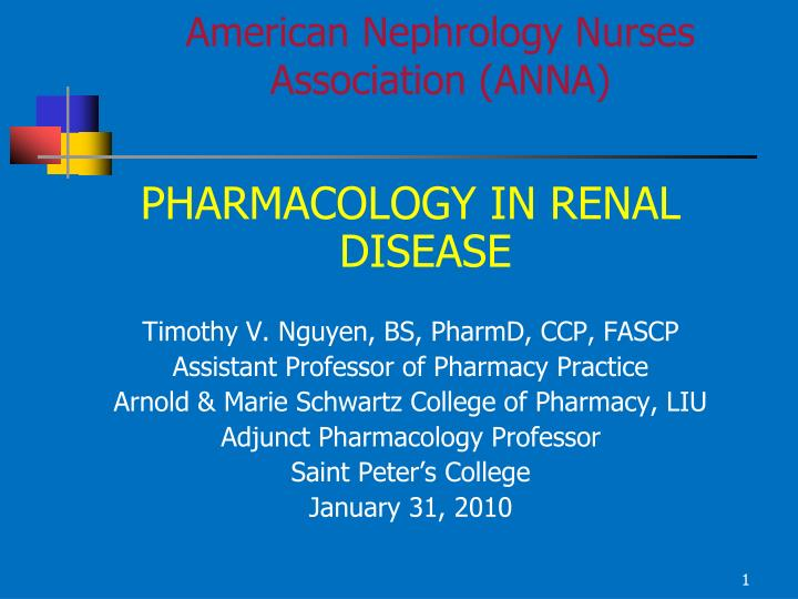 american nephrology nurses association anna n.