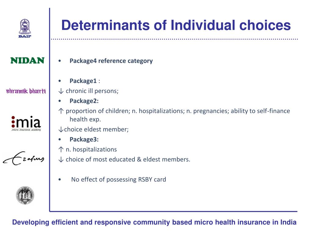 PPT - Group health insurance choices in rural India PowerPoint