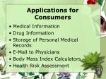 applications for consumers