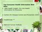 top consumer health information web sites