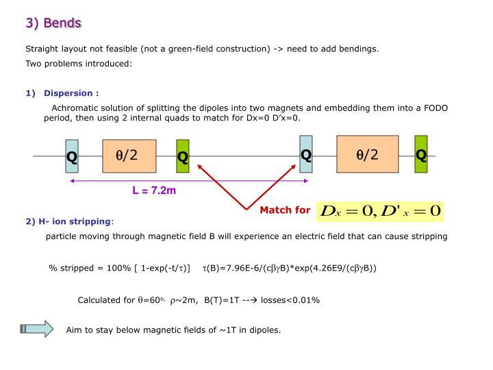 3) Bends