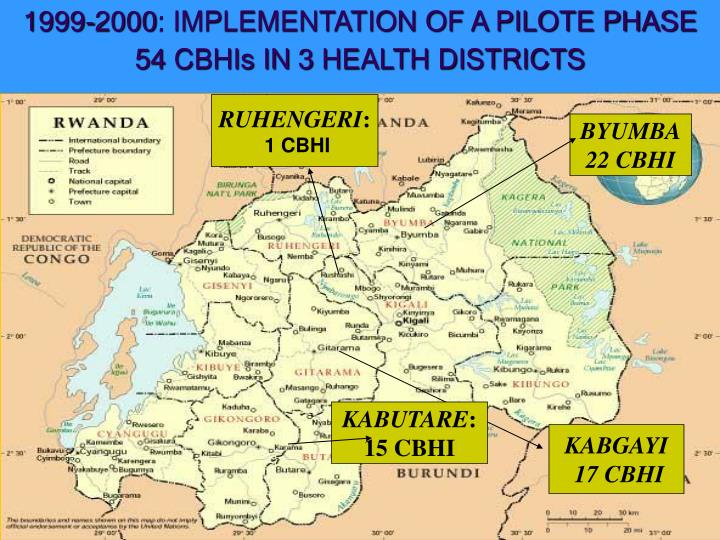 1999-2000: IMPLEMENTATION OF A PILOTE PHASE