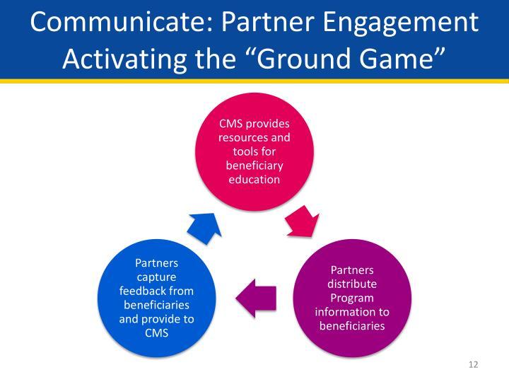 Communicate: Partner Engagement