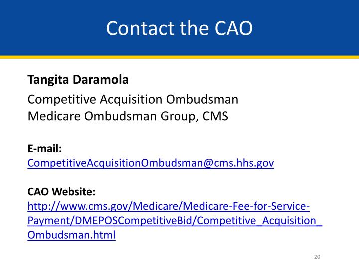 Contact the CAO