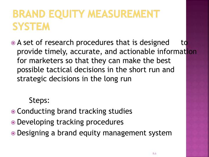 Brand Equity Measurement System
