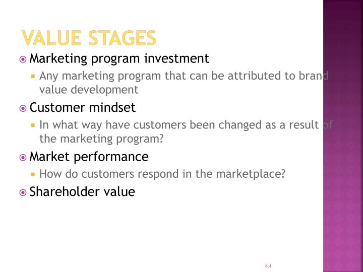 Value Stages