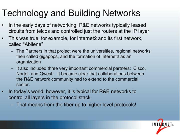 Technology and Building Networks