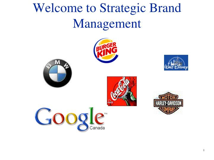 welcome to strategic brand management n.
