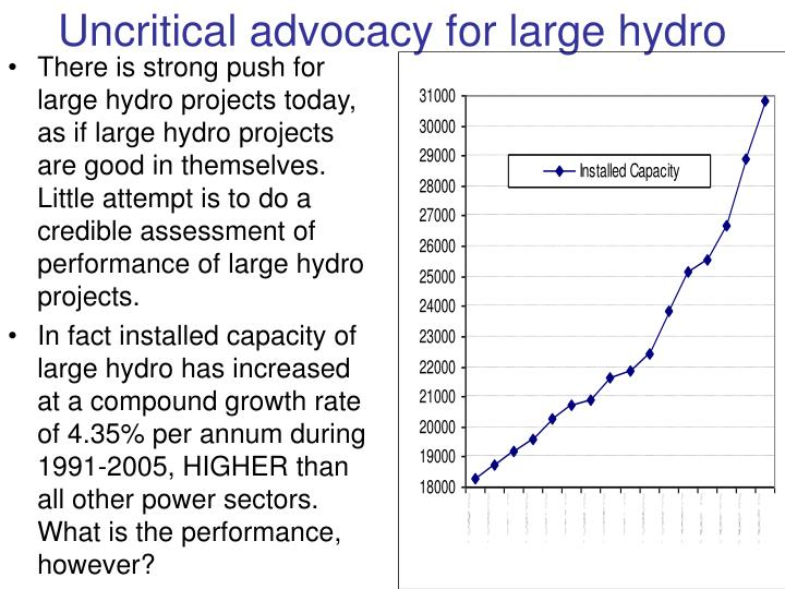 Uncritical advocacy for large hydro