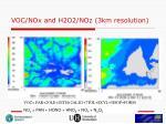 voc nox and h2o2 noz 3km resolution