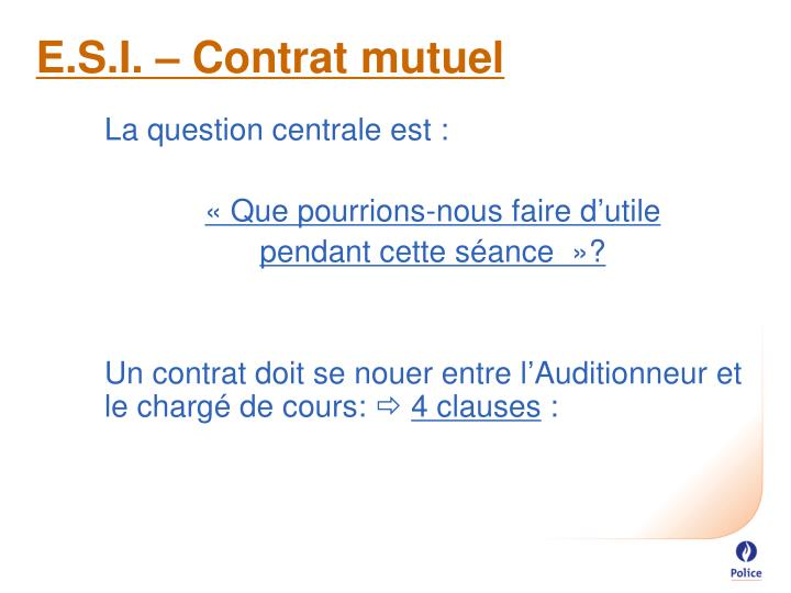 E.S.I. – Contrat mutuel