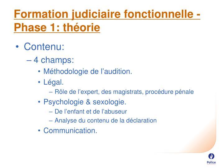 Formation judiciaire fonctionnelle -