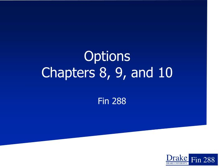 options chapters 8 9 and 10 n.
