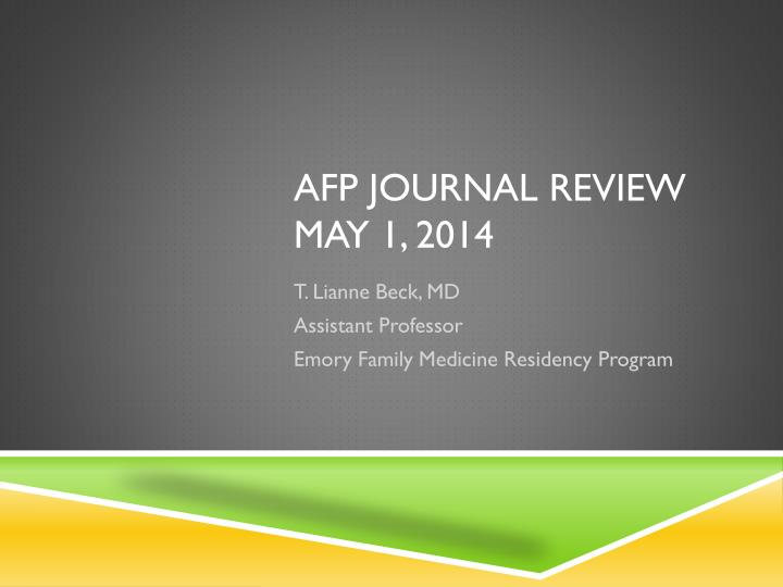 afp journal review may 1 2014 n.