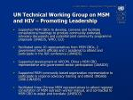 un technical working group on msm and hiv promoting leadership