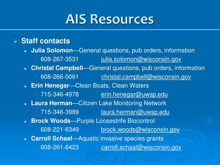 AIS Resources