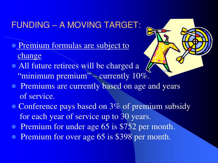 FUNDING – A MOVING TARGET: