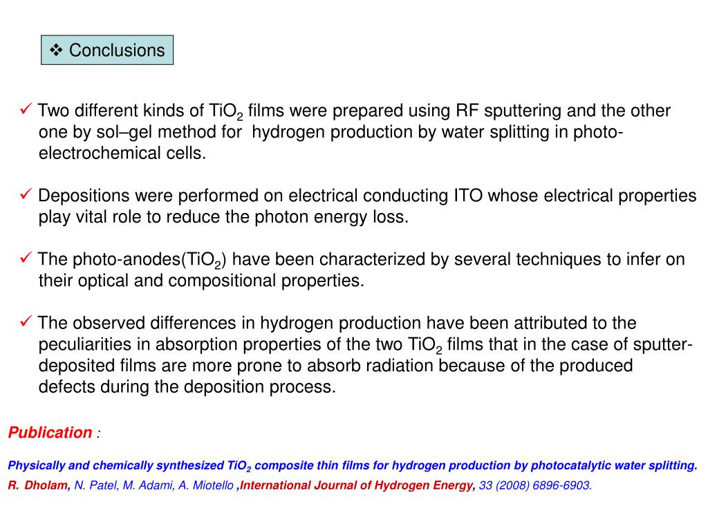 PPT - Physically and chemically synthesized TiO2 composite