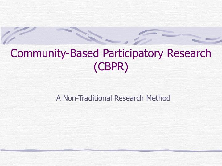 community based participatory research essay In community-based participatory action research (par), production of knowledge is carried out in partnership between community members and researchers representing an orientation to research rather than a research method in its own right, participatory research approaches have grown rapidly in the medical and health science in recent years.